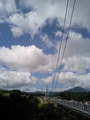 対岸から見た九重夢大吊橋