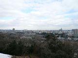 青葉城から仙台市内を望む