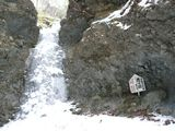 凍り付いた恵滝
