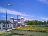ぐんまフラワーパーク大花壇と噴水