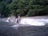 吹割の滝、上流方面より