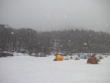 赤城大沼は吹雪だった