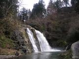 銀山温泉の白銀の滝