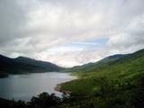 台風一過の野反湖