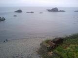 島武意海岸の浜辺