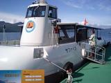 支笏湖のグラスボート